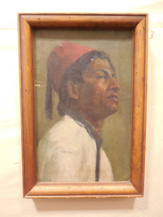 Portrait of a Man Wearing a Fez Tarboosh Hat
