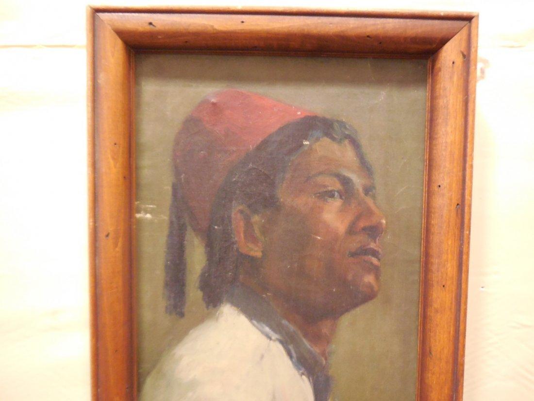 Portrait of a Man Wearing a Fez Tarboosh Hat - 2
