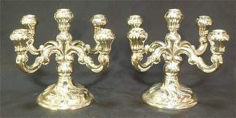 Pair of Sterling Silver Candelabra Candlesticks