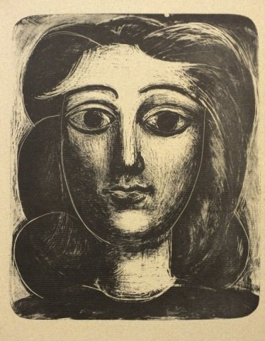 """Pablo Picasso """"Head of a Woman"""" Lithograph"""