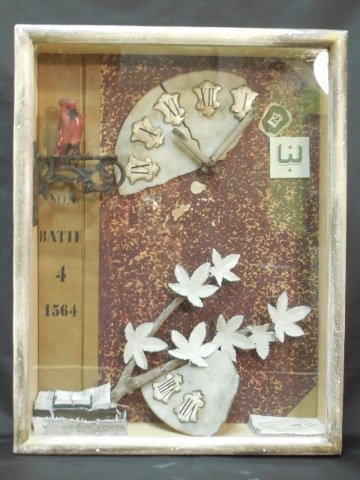 Surreal School Shadow Box Assemblage Art Piece