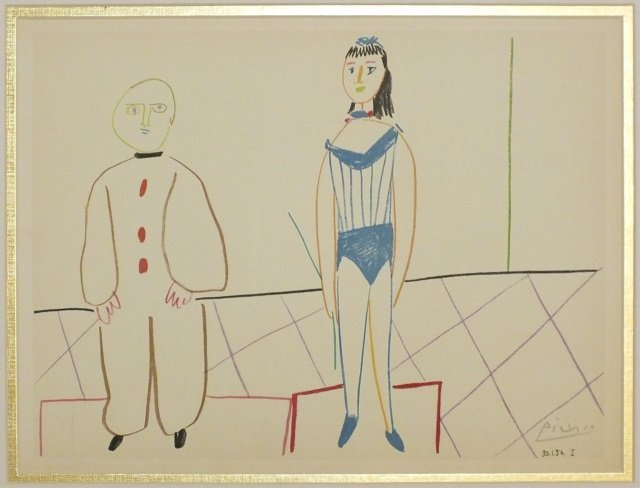 "Pablo Picasso ""Circus Boy & Girl"" Lithogaph"