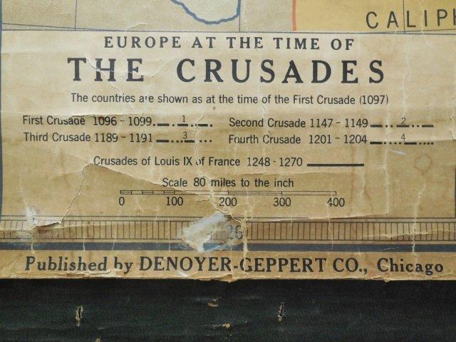 Vintage Denoyer Geppert Pull Down Map of Europe - 4