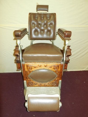 Antique Victorian Barber Chair by Theo A. Kochs - 2