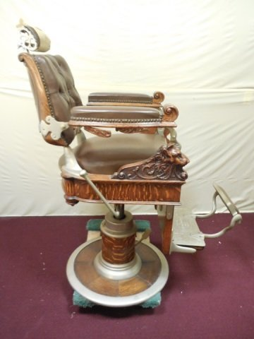 Antique Victorian Barber Chair by Theo A. Kochs - 4
