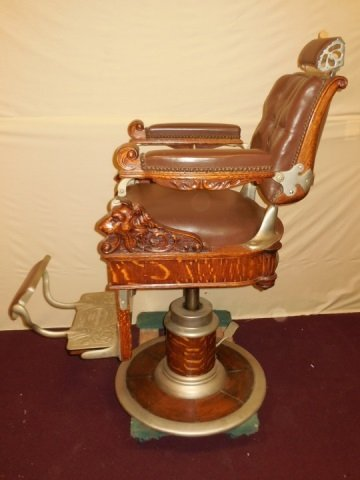 Antique Victorian Barber Chair by Theo A. Kochs - 5