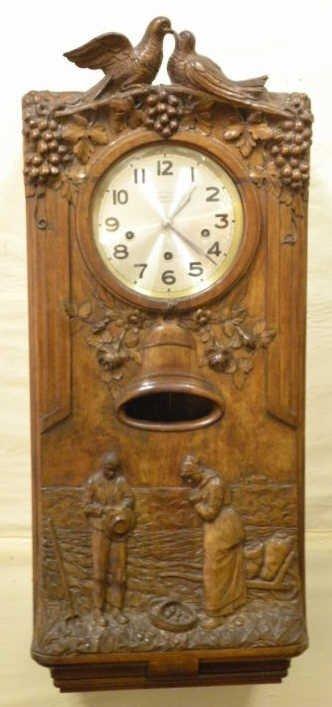 Antique Westminster Clock - Millet L'Angelus Scene
