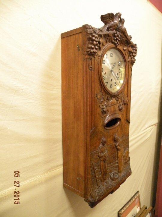Antique Westminster Clock - Millet L'Angelus Scene - 2