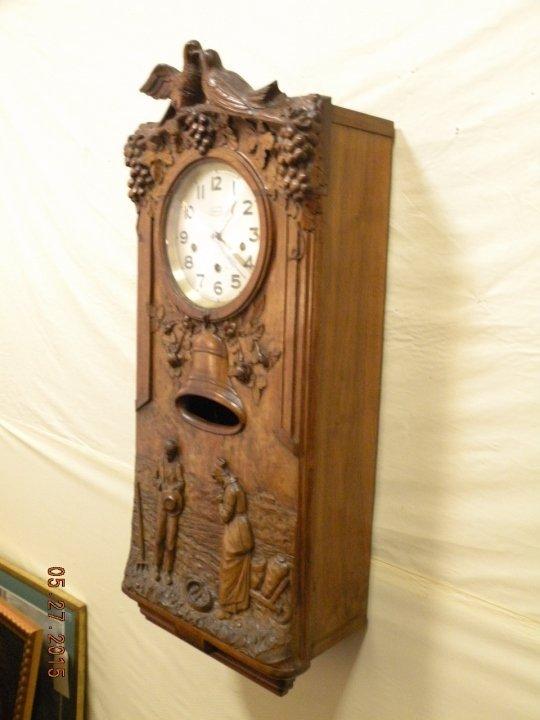 Antique Westminster Clock - Millet L'Angelus Scene - 3