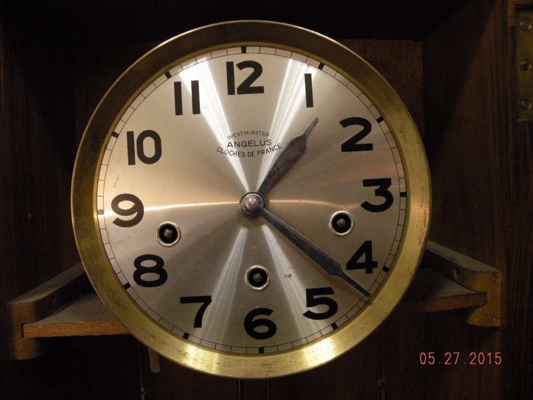 Antique Westminster Clock - Millet L'Angelus Scene - 5