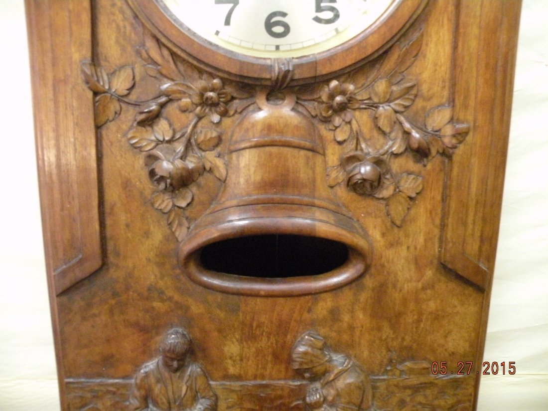 Antique Westminster Clock - Millet L'Angelus Scene - 8