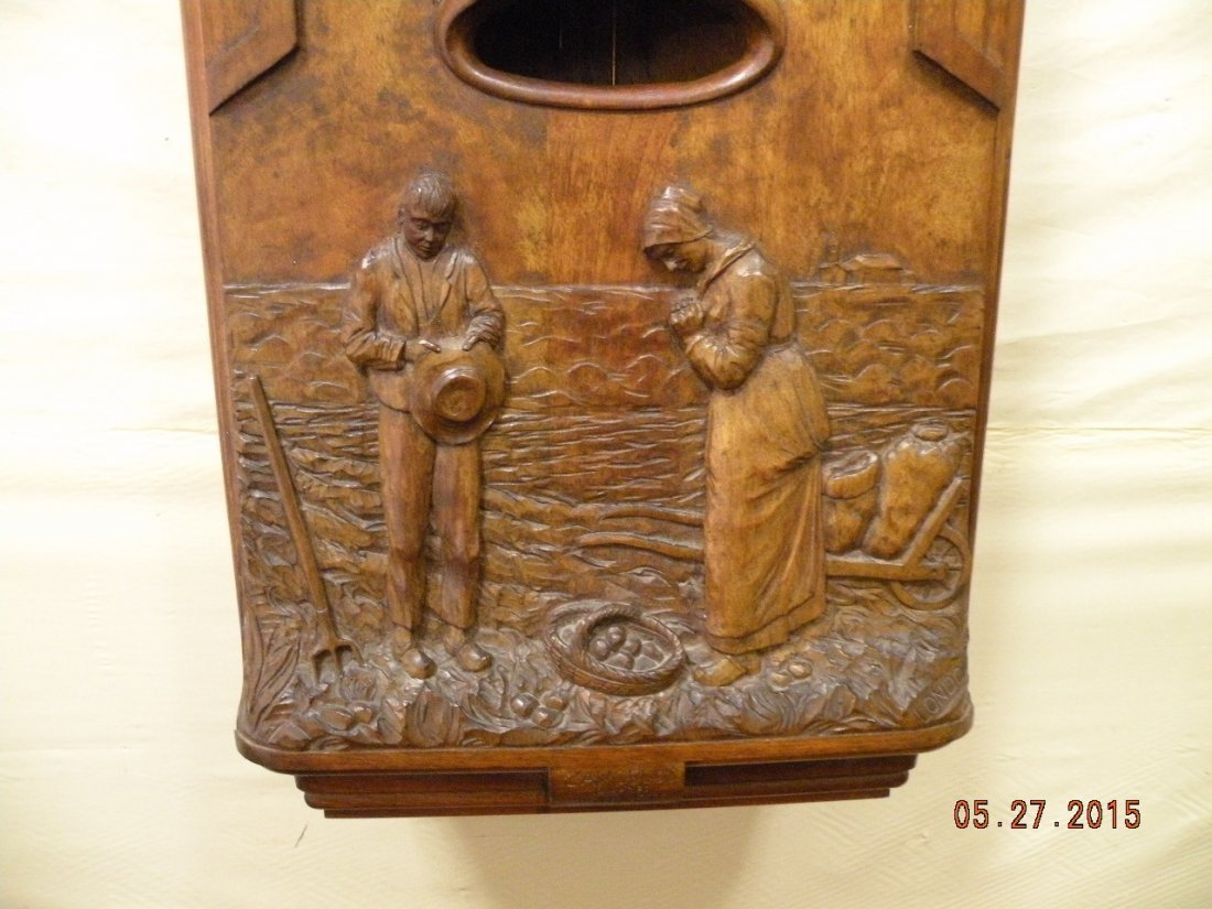 Antique Westminster Clock - Millet L'Angelus Scene - 9