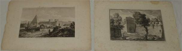 Antique French & Italian Architectural Engravings