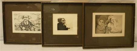 Charles Bragg  Collection Pencil Signed Etchings