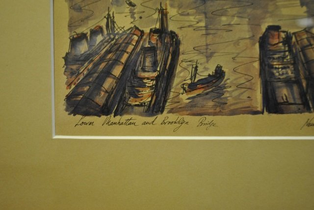J.M Gallais - Mid Century New York City Print - 5