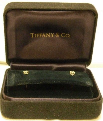 Tiffany & Co. Round Cut Diamond Stud Earrings