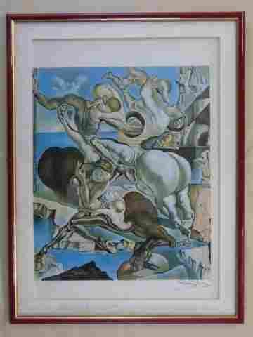 Salvador Dali Pencil Signed Surrealist Lithograph