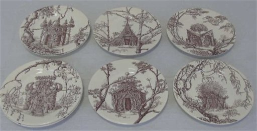 8 Hermes Dessert Plates \