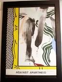 Roy Lichtenstein Lithograph Against Apartheid