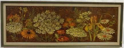 Eleanor Bradford - Folk Art Still Life Oil Panel
