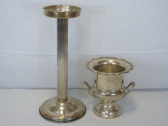 Vintage Silver Plate Champagne Bucket on Stand - 2
