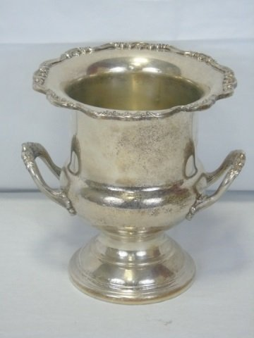 Vintage Silver Plate Champagne Bucket on Stand - 4
