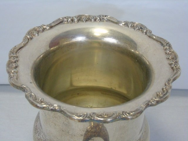 Vintage Silver Plate Champagne Bucket on Stand - 6
