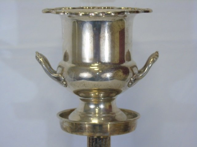 Vintage Silver Plate Champagne Bucket on Stand - 7