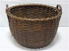 Lot of Two Antique Handmade Baskets