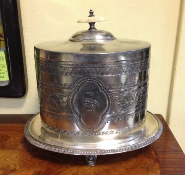 Antique Georgian Style Silver Plate Tea Caddy