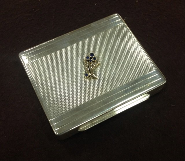 Art Deco Tiffany & Co. Sterling & Gold Table Box