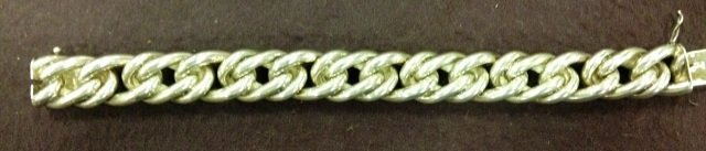 Vintage Hermes Paris Silver Chain Bracelet in Box - 5