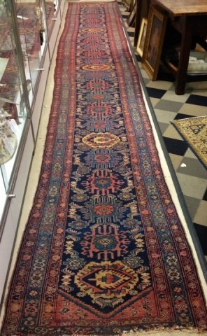 LONG Antique Persian Hand Knotted Wool Runner