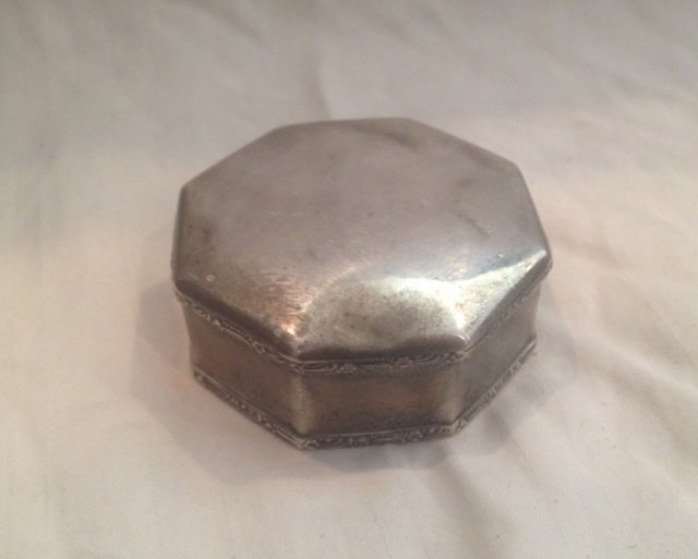Antique Continental 800 Silver Table Box