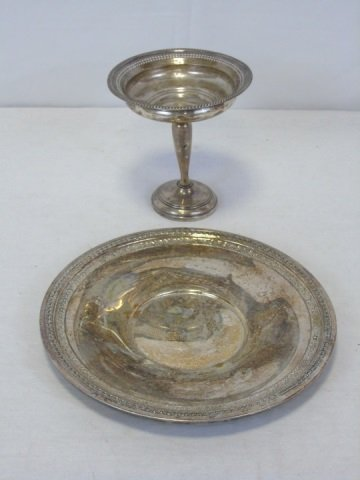 Vintage Silver Plate Reed & Barton Tray & Compote