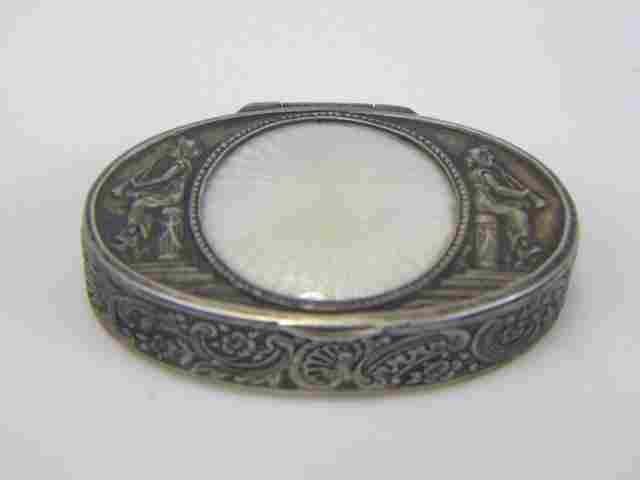 Imperial Russian Silver Guilloche Enamel Snuff Box