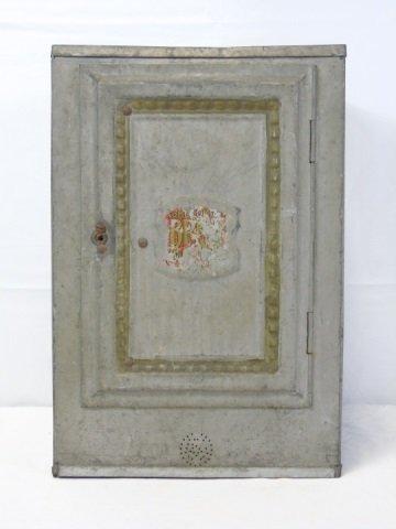Antique Vintage Tin Bread Box Cabinet
