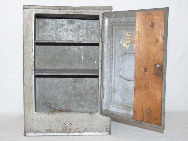 Antique Vintage Tin Bread Box Cabinet - 2