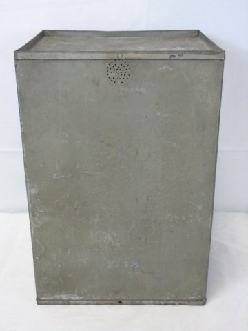 Antique Vintage Tin Bread Box Cabinet - 3