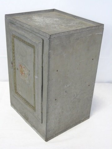 Antique Vintage Tin Bread Box Cabinet - 4
