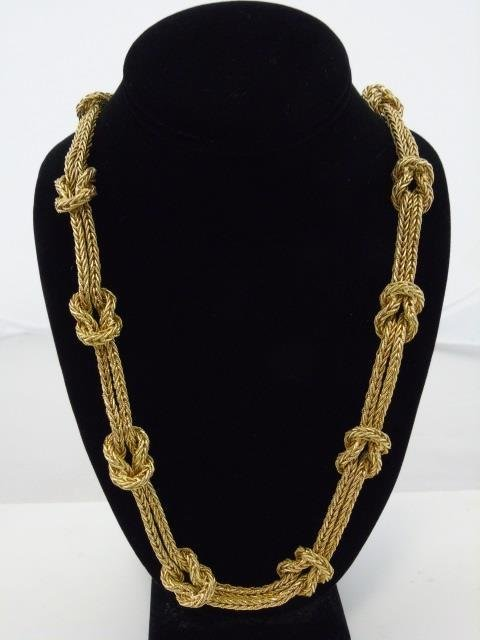 Important Mario Buccellati 18kt Gold Necklace