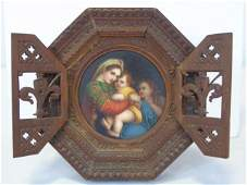19th C. Painted Porcelain Madonna & Child