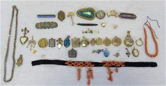 Assorted Antique &  Vintage Jewelry