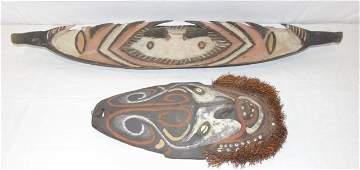 2 Antique African Tribal Masks