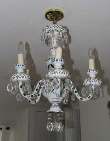Porcelain bohemian glass chandelier painted porcelain bohemian glass chandelier arubaitofo Images