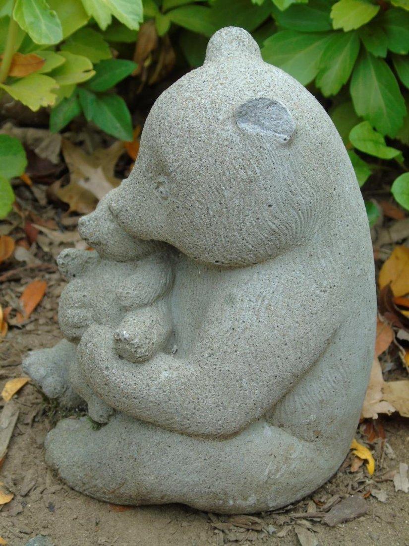 2 Concrete Garden Statues Bear & Turtle Planter - 7