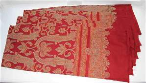 Lot Three Red Paisley Tablecloths Pottery Barn