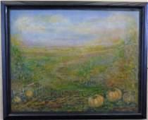 Filomena Martinez - Mixed Media Autumn Farm Fields