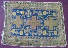 Antique Hand Woven Wool Oriental Rug