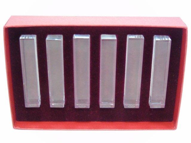 Boxed Set of Baccarat Crystal Knife Rests